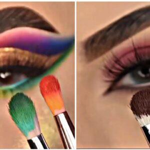Os Melhores Tutoriais de Maquiagem para os OLHOS/ Glam Makeup Tutorial Compilation #58 2021 ♥