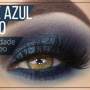 Esfumado Azul Efeito Profissional - TEM SPOILER NESSE V�DEO - Dark Blue Makeup Tutorial