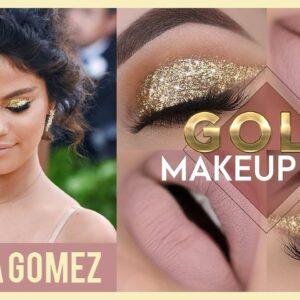 A MAQUIAGEM MAIS OURO QUE JÁ FIZ - Selena Gomez Makeup Tutorial