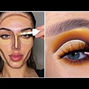 Os Melhores Tutoriais de Maquiagem das Gringas✨| New Makeup Trends Glam Makeup 2021