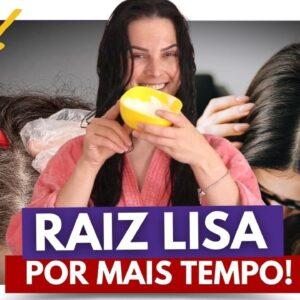 Como Manter a Raiz Lisa por MAIS TEMPO SEM QU�MICA? (Como Deixar o Cabelo Liso Sem Chapinha)