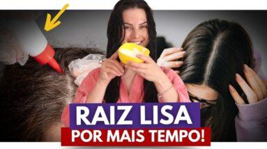 Como Manter a Raiz Lisa por MAIS TEMPO SEM QUÍMICA? (Como Deixar o Cabelo Liso Sem Chapinha)
